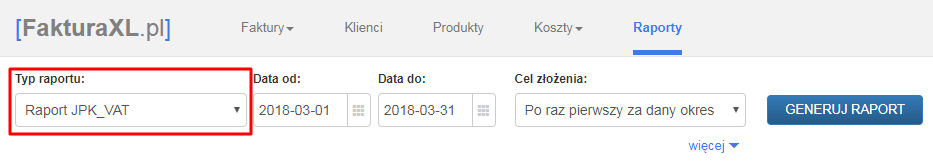 JPK_VAT raport