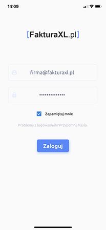 logowanie do aplikacji FakturaXL OCR