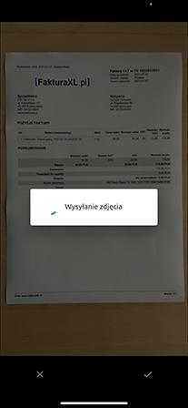 wysyłanie zdjęcia faktury z telefonu do OCR